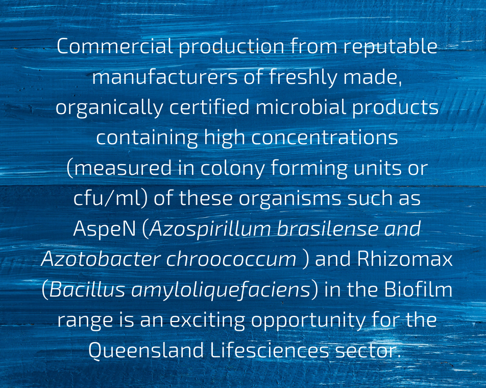 commercial production of microbials is an exciting opportunity for reef safe fertilising
